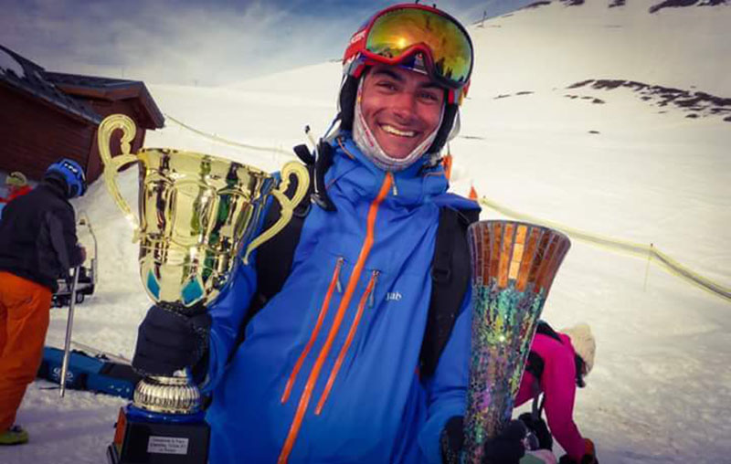 Valentin, double champion de france speed-riding